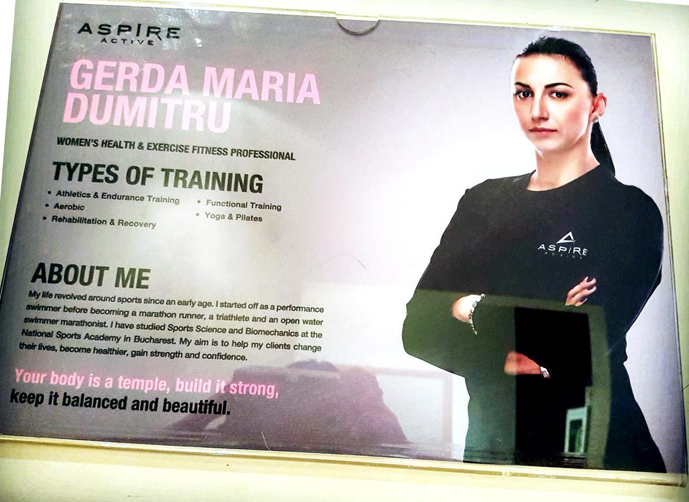 Maria Gerda Dumitru - antrenor fitness