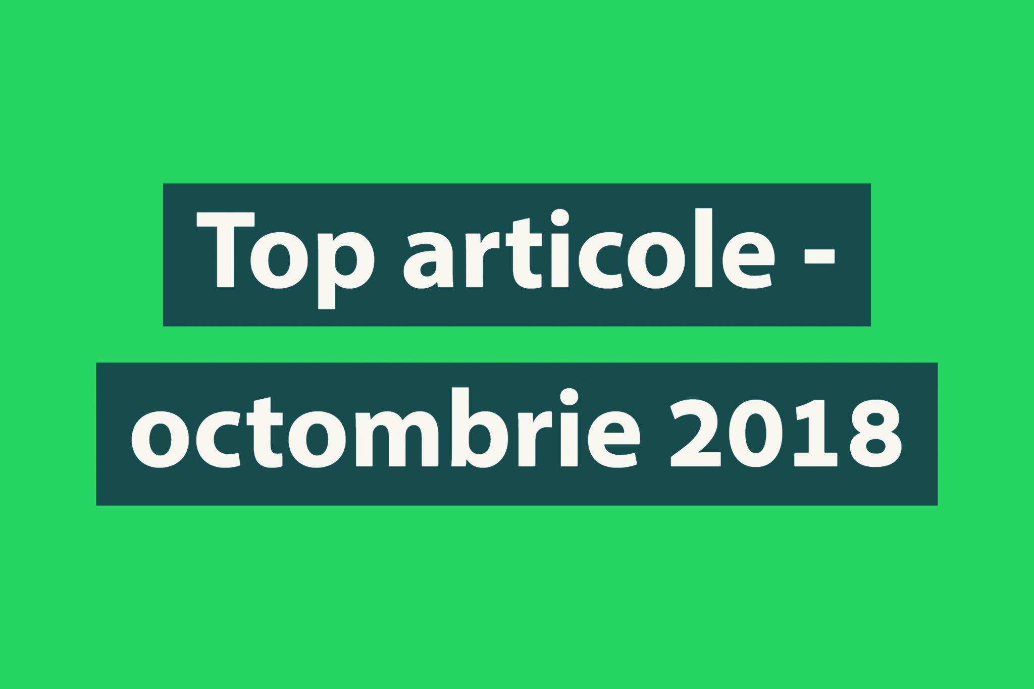 Top articole luna octombrie Biciclistul.ro