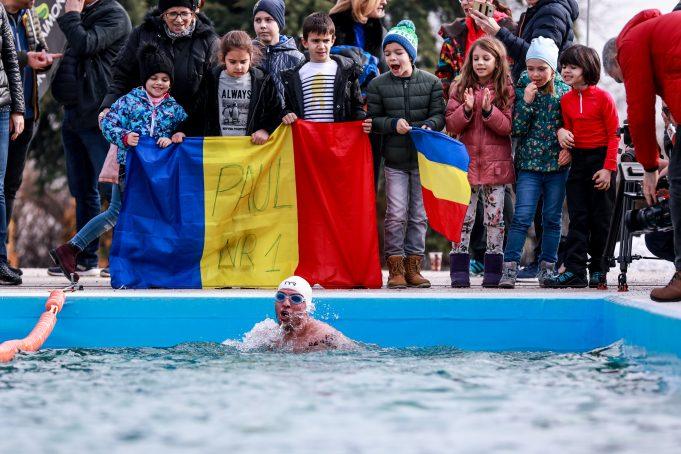 Paul Georgescu înot ape înghețate - ice swimming 1 mile