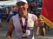 Razvan Ene - medalie Ironman Tremblant 2019