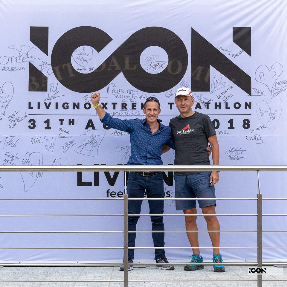 Sorin Boriceanu și Bogdan Mihai Ioniță la ICON Livigno Xtreme Triathlon 2018