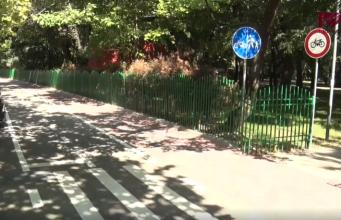 interzis biciclete parcul IOR