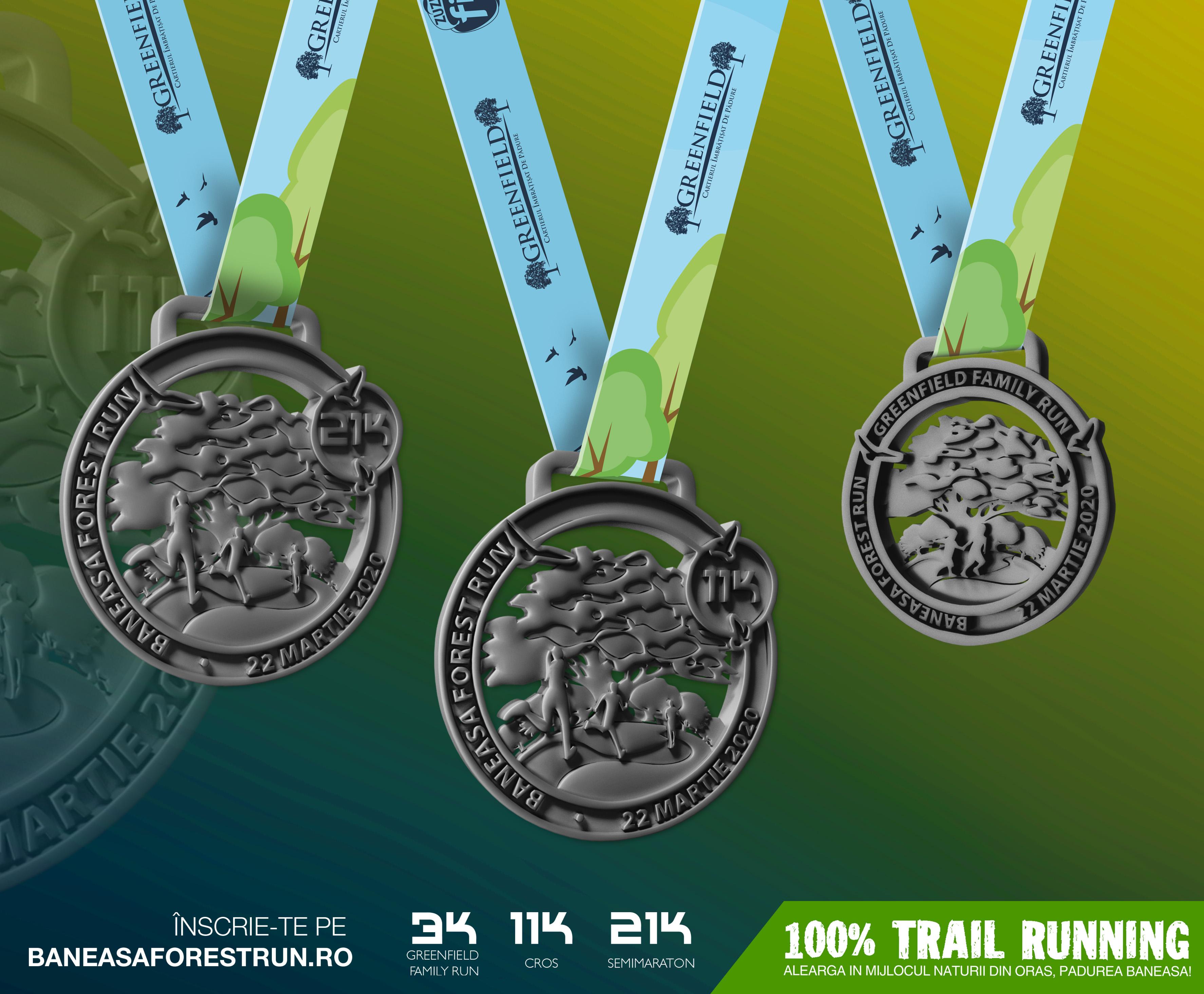 Baneasa Forest Run 2020 - medalia
